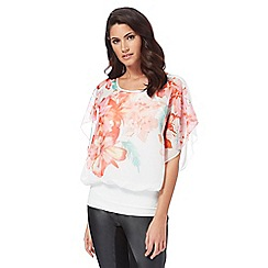 Star by Julien Macdonald - Multi-coloured tropical print chiffon top