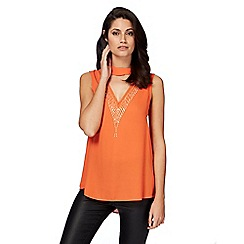 Star by Julien Macdonald - Orange choker neck top