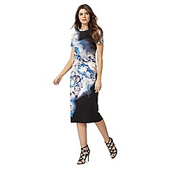 Star by Julien Macdonald - Multi coloured floral print petite midi dress