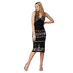 Star by Julien Macdonald - Black embroidered lace dress