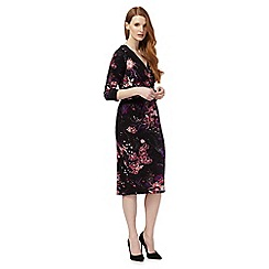 Star by Julien Macdonald - Black floral print tea dress