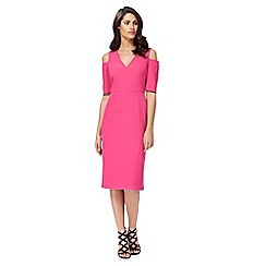 Star by Julien Macdonald - Pink cold shoulder pencil dress