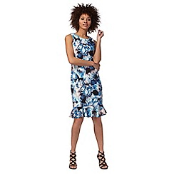 Star by Julien Macdonald - Blue floral print flute hem dress