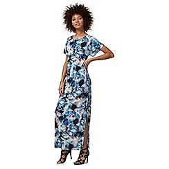 Star by Julien Macdonald - Blue floral print flute hem dress