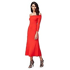 Star by Julien Macdonald - Red knitted Bardot dress