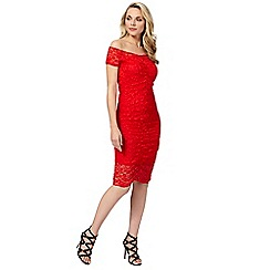 Star by Julien Macdonald - Red lace bardot dress