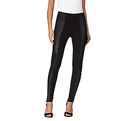 Star by Julien Macdonald - Black panelled leggings