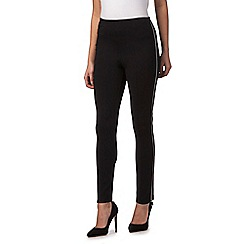 Star by Julien Macdonald - Black side zip petite trousers