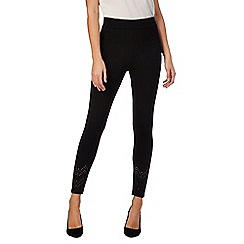 Star by Julien Macdonald - Black 'Lasercut' leggings