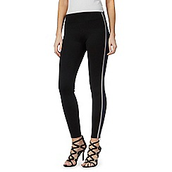Star by Julien Macdonald - Black striped side leggings