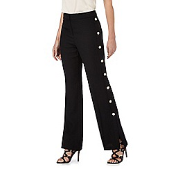 Star by Julien Macdonald - Black wide leg stud trousers