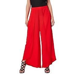 Star by Julien Macdonald - Red wide leg split trousers