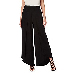Star by Julien Macdonald - Black wide leg split trousers