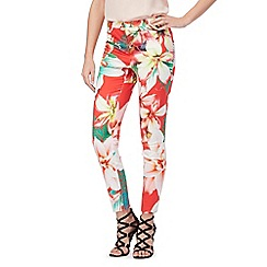 Star by Julien Macdonald - Red floral print trousers