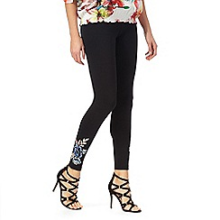 Star by Julien Macdonald - Black floral embroidered leggings