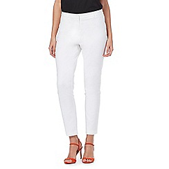 Star by Julien Macdonald - White cotton ankle grazer trousers