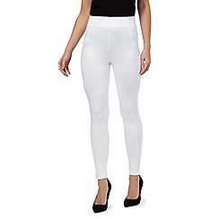 Star by Julien Macdonald - White ruched hem leggings