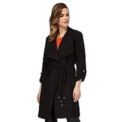 Star by Julien Macdonald - Black drawstring duster coat