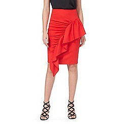Star by Julien Macdonald - Red frill ponte skirt