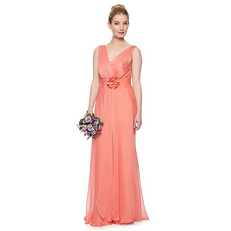 Debut - Fleur Corsage Waist Maxi Dress