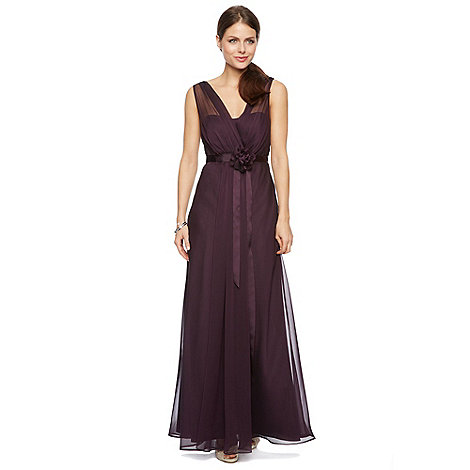 Debut - Fleur Corsage Waist Maxi Dress