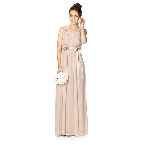 Debut - Light brown corsage waist maxi dress