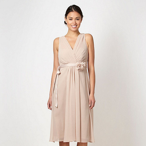 Debut - Light brown ruched corsage dress