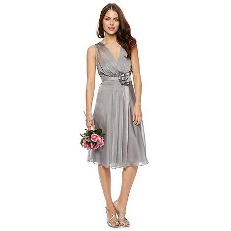 Debut - Fleur Corsage Waist Midi Dress