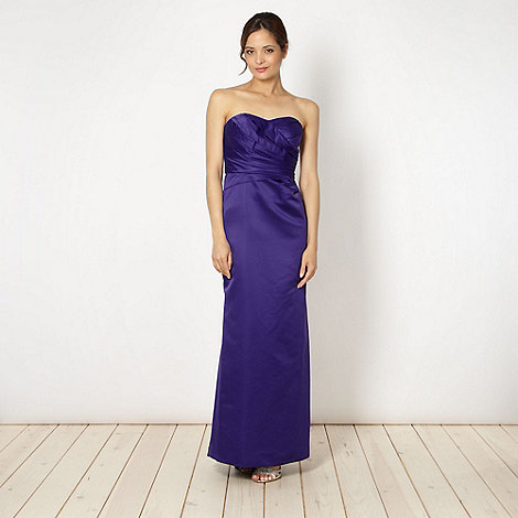 Debut - Purple structured satin maxi dress