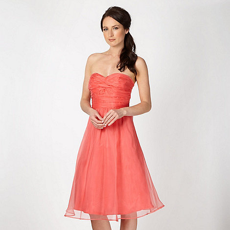 Debut - Coral organza prom dress