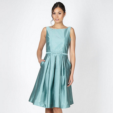 Debut - Online exclusive pale green bow trimmed prom dress
