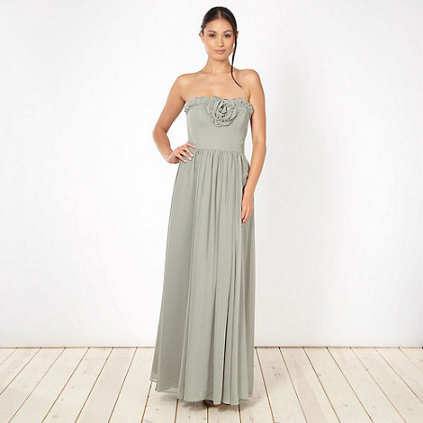 Debut - Light green flower corsage maxi dress