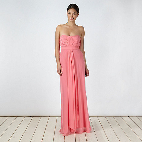 Debut - Mid rose ruched bust maxi dress