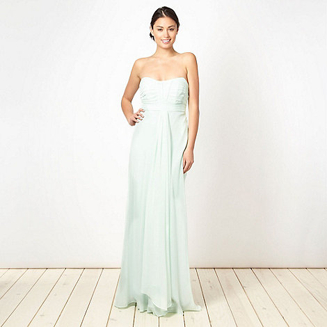 Debut - Light green ruched bust maxi dress