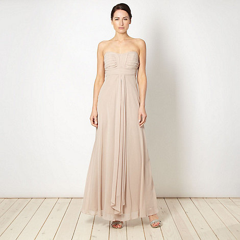 Debut - Light brown ruched bust maxi dress