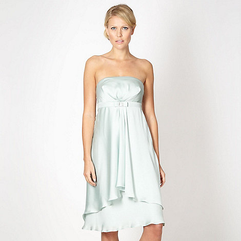 Debut - Online exclusive pale green waterfall bandeau dress