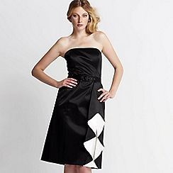 Debut - Black & ivory waterfall prom dress