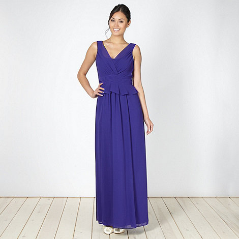 Debut - Purple peplum maxi dress