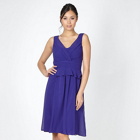 Debut - Purple peplum crepe dress