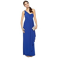 Debut - Nina asymmetric draped one shoulder jersey maxi dress
