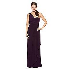 Debut - Nina asymmetric draped one shoulder jersey maxi dress