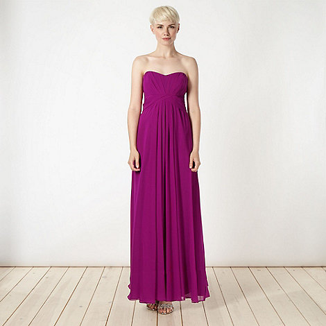 Debut - Dark pink bandeau maxi dress