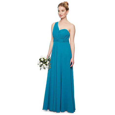 Debut - Ella asymmetic one shoulder chiffon maxi dress