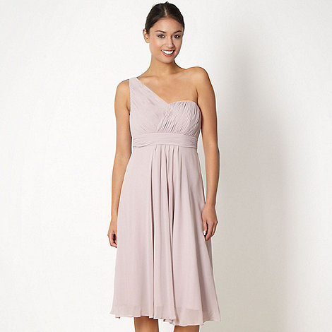 Debut - Pink one shoulder midi dress