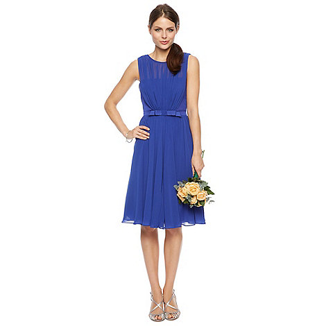 Debut - Bright blue bow detail midi dress
