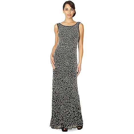 Debut - Black embellished chiffon maxi dress