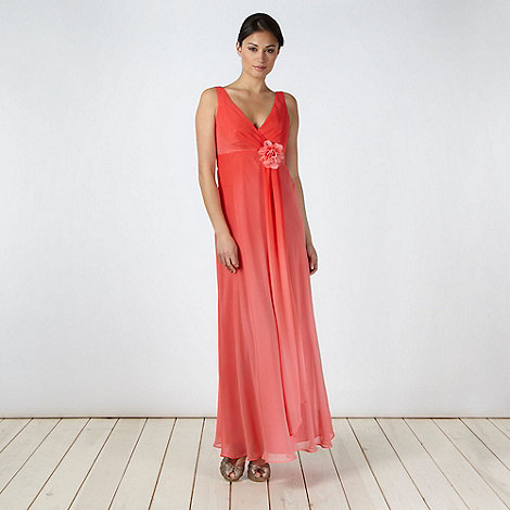 Debut - Dark peach graduating maxi dress