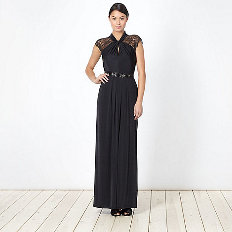 Debut - Black twist neck maxi dress