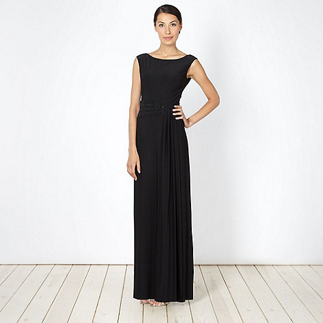 Debut - Black embellished waist maxi dress