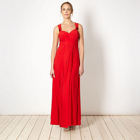 Debut - Red pleated jersey maxi dress